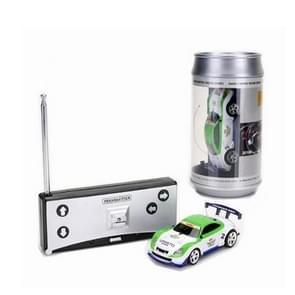 Coke kan mini RC auto radio afstandsbediening micro Racing auto (groen + wit)