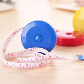 4 PCS 1.5m Cute Plastic Mini Automatic Retractable Tape Measure(Random Color Delivery)
