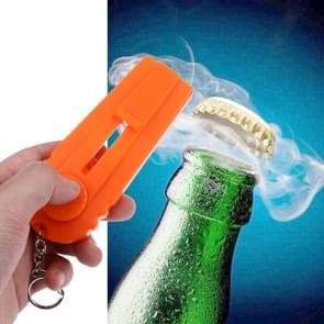 Launcher Beer Bottle Opener Shooting Flying keychain Ring(Orange)