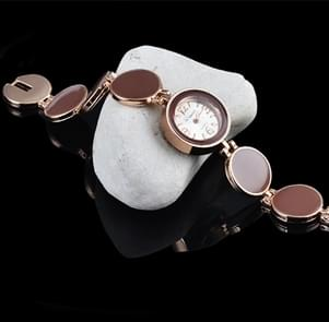 Women Round Dial Bracelet Quartz Wristwatch(WHITE)