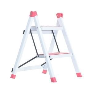 Herringbone Folding Ladders Two Step Pedal Ascend Home Ladder(Pink)