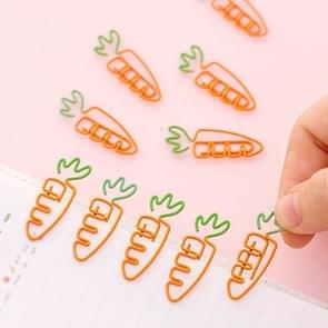 5 PCS Creative Kawaii Carrot Shaped Metal Paper Clip Bookmark Stationery School Office Supply