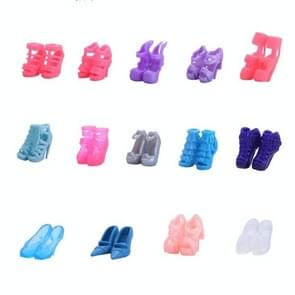 3 Set Fashion Doll Shoes Bandage Bow High Heel Sandals for Dolls Accessories Toys(Random Style 30 Pairs (The Style Is Not Repeated))