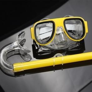 2 in 1 Summer Beach Swimming Snorkel + Duikbril set voor 2-8 jaar oude kinderen  grootte: one size(geel)