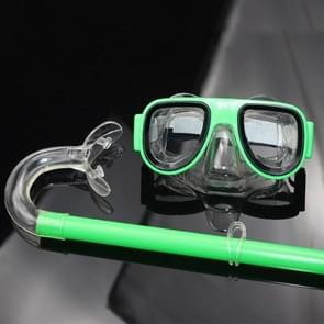 2 in 1 Summer Beach Swimming Snorkel + Duikbril set voor 2-8 jaar oude kinderen  grootte: one size(green)