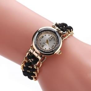 Sloggi 377 Women Knitting Rope Chain Quartz Wrist Watch(Black)