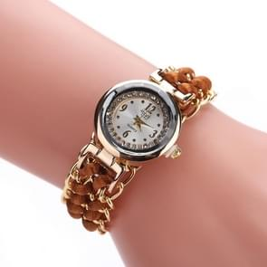 Sloggi 377 Women Knitting Rope Chain Quartz Wrist Watch(Light Brown)