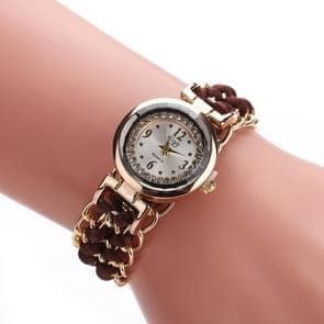 Sloggi 377 Women Knitting Rope Chain Quartz Wrist Watch(Dark Brown)