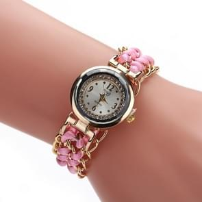 Sloggi 377 Women Knitting Rope Chain Quartz Wrist Watch(Pink)