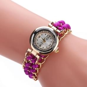 Sloggi 377 Women Knitting Rope Chain Quartz Wrist Watch(Purple)