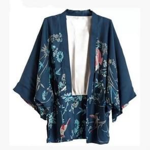 Herfst vrouwen Phoenix patroon afdrukken losse kimono jas  maat: S (als show)