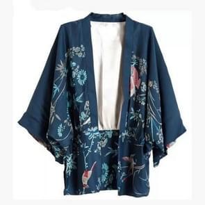 Herfst vrouwen Phoenix patroon afdrukken losse kimono jas  maat: L (als show)