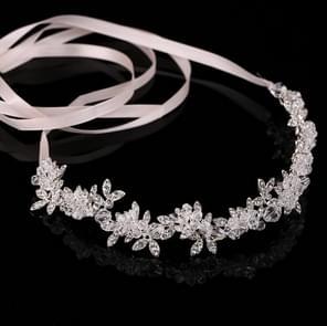 Edele Crystal Strass bruids Headpieces satijn lint bruiloft haaraccessoires voor bruiden Tiaras kronen hoofdbanden stijl 1