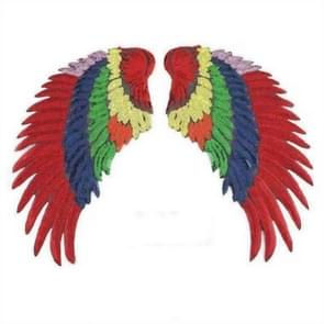 Seven Colors A Pair Sequin Feather Wing Shape Clothing Patch Sticker DIY Clothing Accessories, Size:Small 20.5 x 10cm