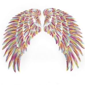 Magic Color A Pair Sequin Feather Wing Shape Clothing Patch Sticker DIY Clothing Accessories, Size:Small 20.5 x 10cm