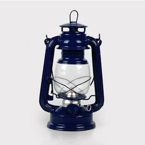 Retro Nostalgic Wrought Iron Portable Putdoor Tent Camping Light(Dark Blue)