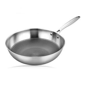 Household Honeycomb Stainless Steel Non-stick Koekenpan  Style:32cm Pot (zonder deksel)