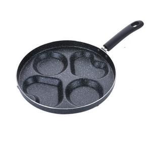 Multifunction Nonstick Frying Pan Aluminium Alloy 4 Units Cookware Fry Egg Pan Pancake Steak Pan for Gas Cooker(11 Inch Round + Heart)