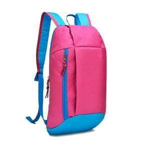 Unisex sport Oxford doek rugzak Hiking rugzak (roze)