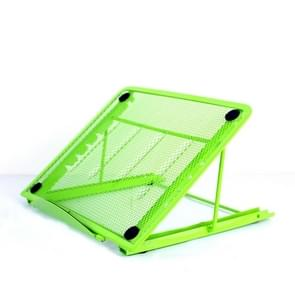 Portable Desktop Folding Cooling Metal Mesh Adjustable Ventilated Holder(Green)