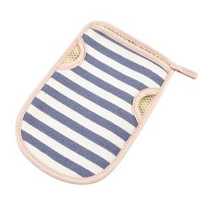 2 PCS Bath Shower Gloves Body Skin Exfoliating SPA Massage Mitt Body Scrubber Glove(Big Strips Blue)