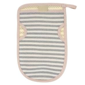 2 PCS Bath Shower Gloves Body Skin Exfoliating SPA Massage Mitt Body Scrubber Glove(Small Strips Blue)