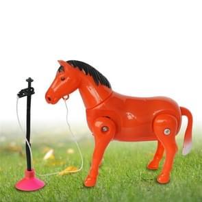 Kunststof simulatie elektrische paard speelgoed kinderen birthday gift rode en witte willekeurige levering