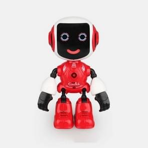 Intelligent Mini Alloy Robot Children's Early Education Educational Toys(Red)