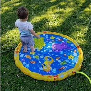 Cartoon Pattern Round Inflatable Outdoor Lawn Sprinkler Pad Children Pad, Diameter: 100cm