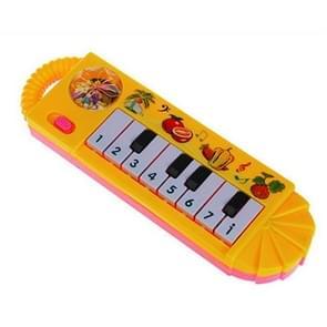 Plastic baby kinderen elektrische piano muziekinstrumenten rammel bels hand Bell zuigeling pasgeboren Preschool leren speelgoed geschenken (willekeurige kleur)