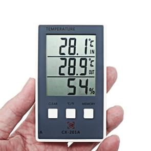 CX-201A LCD digitale weer station thermometer hygrometer binnen buitentemperatuur luchtvochtigheid meter met temperatuur sensor