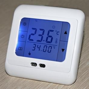 H3 Thermoregulator touch screen verwarming thermostaat voor warme vloer/elektrische verwarming systeemtemperatuur regelaar (blauw)