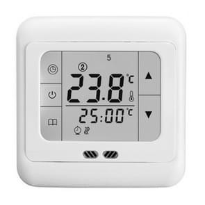 LYK-109 Thermoregulator touch screen verwarming thermostaat voor warme vloer/elektrische verwarmingssysteem temperatuur controller (wit)
