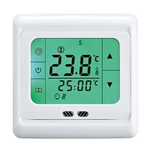 LYK-109 Thermoregulator touch screen verwarming thermostaat voor warme vloer/elektrische verwarmingssysteem temperatuur controller (groen)