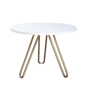 Cafe Tables Home Furniture Solid Wood Steel Round Table Minimalist Coffee Table(50cm*50cm*45cm)