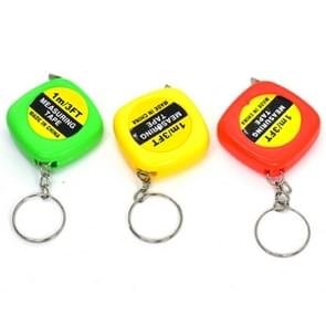 4 PCS Portable Easy to Retract Square Small Tape Measure Key Ring Pendant(Random Color Delivery)