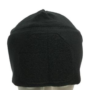 Winter Fleece Warm Protective Cap Outdoor Sports Riding Hunting Windproof Magic Paste Cap(Black)