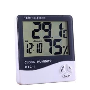 Indoor Outdoor Humidity Meter Digital Thermometer Hygrometer Electronic LCD Weather Station(WHITE)