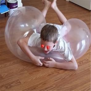 Bubble Ball TPR Blowing Balloon Racket Ball Speelgoed  Grootte: Klein (Willekeurige kleur)