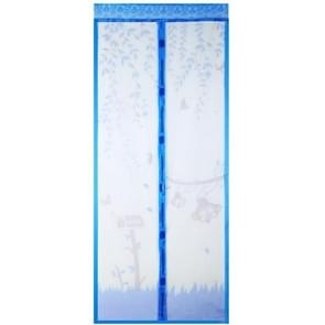 2 PCS Curtain Anti Mosquito Magnetic Tulle Shower Curtain Automatic Closing Door Screen Summer Style Mesh Net(Blue)