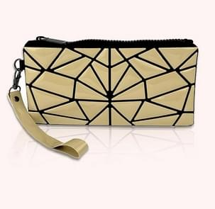 Laser Folding Portable Cosmetic Bag Variety Of Geometric Rhombic Travel Makeup Clutch Bag Storage Bag(Apricot)