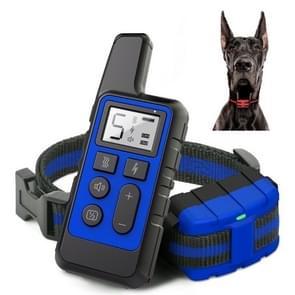 500m Dog Training Bark Stopper Afstandsbediening Elektrische Schok waterdichte elektronische kraag (Blauw)