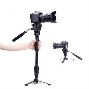 YUNTENG VCT-288RM SLR Camera Monopod Camera Support Foot Hydraulic Head Professional Photography Stand  Max Height: 1.48m
