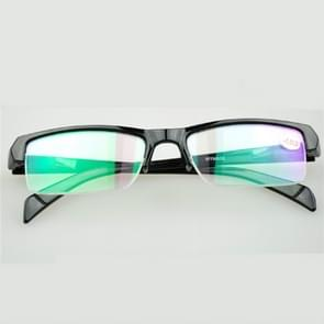 Women Men Half Frame Myopia Glasses HD AC Green Film Lens Myopia Eyeglasses(-1.50D)