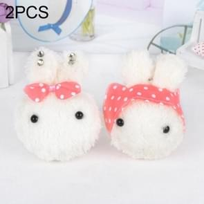 2 PCS Rabbit Plush Toy Stuffed Keychains Random Style