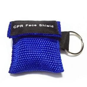 CPR Emergency Face Shield Mask Key Ring Breathing Mask(Blue)