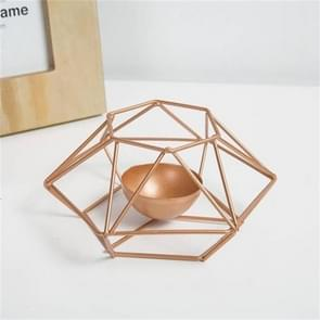 Creative Modern Minimalist Geometric Wrought Iron Gold Candle Holder Ornaments Home Decorations Romantic Candlelight Ornaments, Size:S