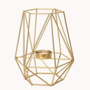 Creative Modern Minimalist Geometric Wrought Iron Gold Candle Holder Ornaments Home Decorations Romantic Candlelight Ornaments, Size:High Section
