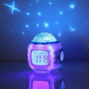 Simple Student Music Calendar Alarm Clock Creative Colorful Decompression Electronic Clock Star Projection Clock