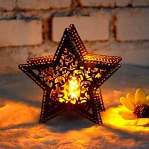 Christmas Decor Moroccan Candlestick Candles Five-pointed Star Colorful Candlestick